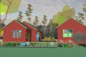 Modern Exterior - Front Elevation Plan #460-9