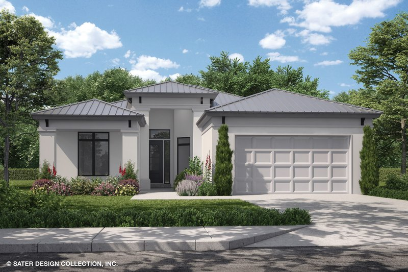 Home Plan - Contemporary Exterior - Front Elevation Plan #930-494