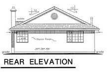 European Exterior - Rear Elevation Plan #18-133
