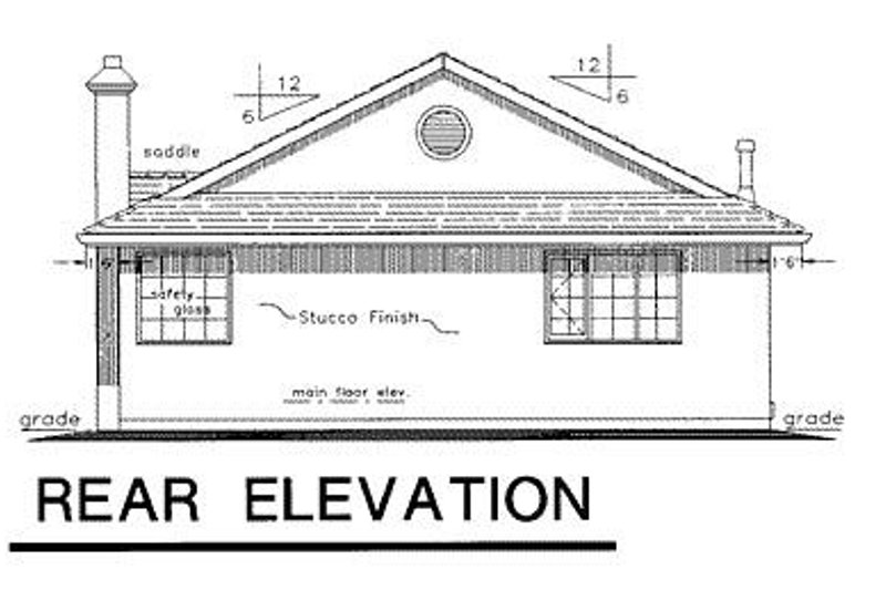 European Exterior - Rear Elevation Plan #18-133 - Houseplans.com