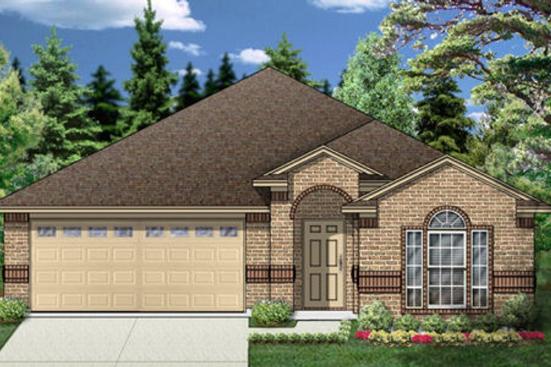 Traditional Exterior - Front Elevation Plan #84-349 - Houseplans.com