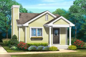 House Design - Cottage Exterior - Front Elevation Plan #22-604
