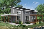 Contemporary Style House Plan - 2 Beds 2 Baths 1200 Sq/Ft Plan #23-2631