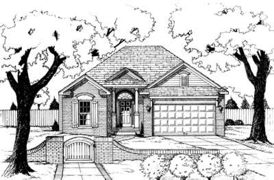 Traditional Exterior - Front Elevation Plan #20-408 - Houseplans.com
