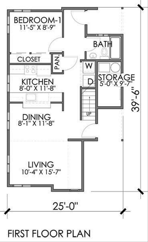 Modern Floor Plan - Main Floor Plan #518-1