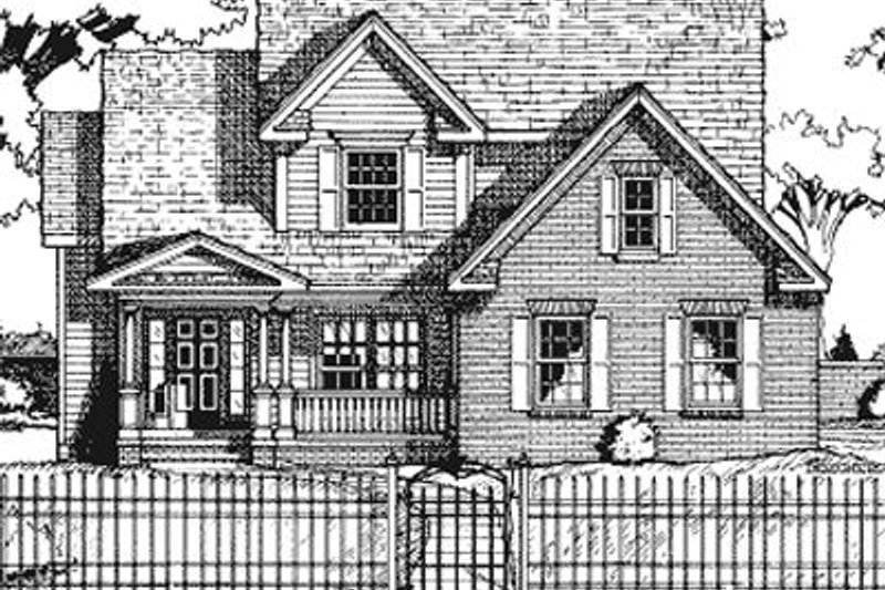 Architectural House Design - Country Exterior - Front Elevation Plan #20-730