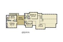 Contemporary Floor Plan - Upper Floor Plan Plan #1070-84