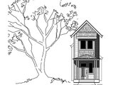 Bungalow Style House Plan - 3 Beds 1.5 Baths 1009 Sq/Ft Plan #423-46 Exterior - Front Elevation