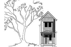 Bungalow Exterior - Front Elevation Plan #423-46