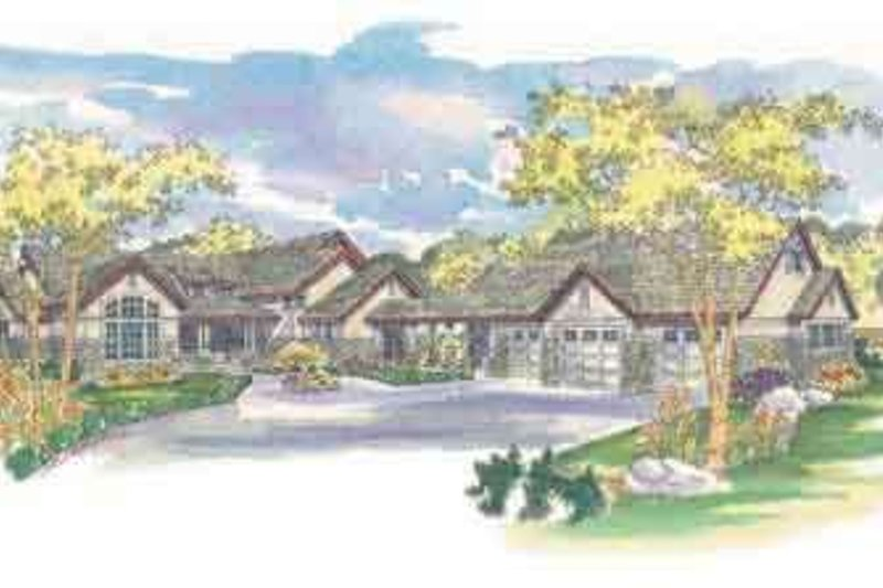 Traditional Exterior - Front Elevation Plan #124-421 - Houseplans.com