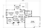 Traditional Style House Plan - 4 Beds 2.5 Baths 2770 Sq/Ft Plan #51-425 Floor Plan - Main Floor Plan