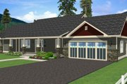 Ranch Style House Plan - 2 Beds 3 Baths 1730 Sq/Ft Plan #126-163 Exterior - Other Elevation