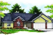 European Style House Plan - 3 Beds 2 Baths 1954 Sq/Ft Plan #70-616 Exterior - Front Elevation