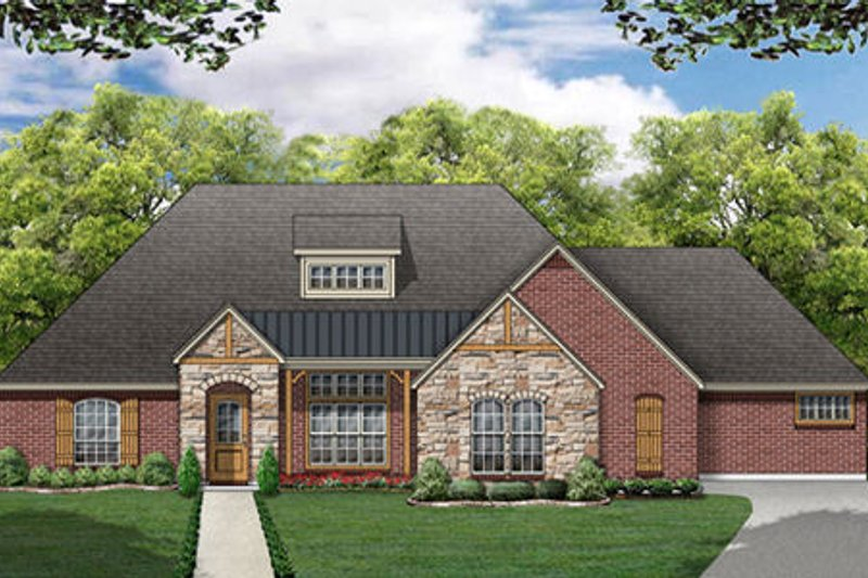 Traditional Exterior - Front Elevation Plan #84-361 - Houseplans.com