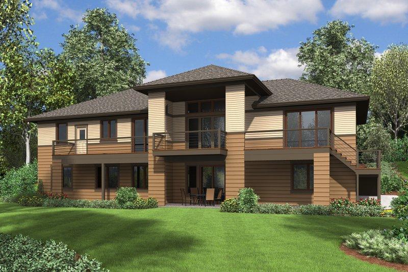 Prairie Exterior - Rear Elevation Plan #48-657 - Houseplans.com