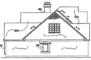 Traditional Style House Plan - 3 Beds 2.5 Baths 2000 Sq/Ft Plan #40-133 Exterior - Other Elevation