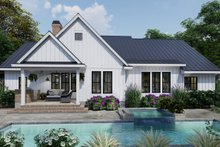 Farmhouse Exterior - Rear Elevation Plan #120-263
