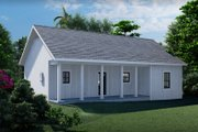 Farmhouse Style House Plan - 3 Beds 2 Baths 1035 Sq/Ft Plan #44-224 Exterior - Rear Elevation