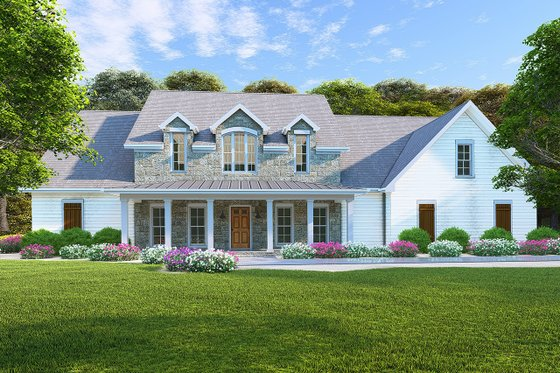 Architectural House Design - Farmhouse Exterior - Front Elevation Plan #923-102