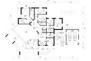 Modern Style House Plan - 5 Beds 3 Baths 5470 Sq/Ft Plan #549-17 Floor Plan - Main Floor Plan