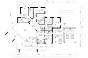 Modern Style House Plan - 5 Beds 3 Baths 5470 Sq/Ft Plan #549-17 Floor Plan - Main Floor