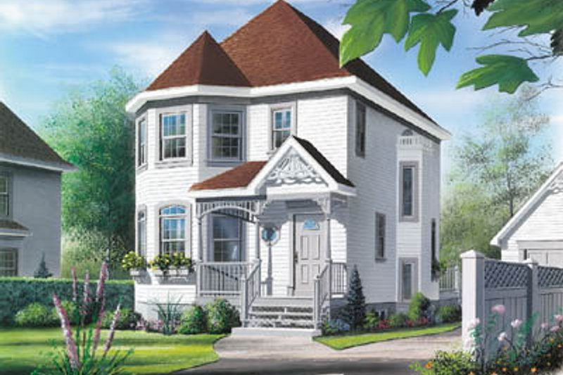 Architectural House Design - Victorian Exterior - Front Elevation Plan #23-269