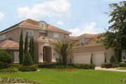 Mediterranean Style House Plan - 6 Beds 6.5 Baths 5917 Sq/Ft Plan #135-212 Exterior - Front Elevation