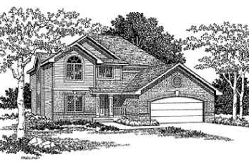 Traditional Exterior - Front Elevation Plan #70-361 - Houseplans.com