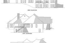 House Plan Design - Traditional Exterior - Rear Elevation Plan #17-1027