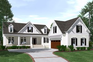 Dream House Plan - Farmhouse Exterior - Front Elevation Plan #1071-9