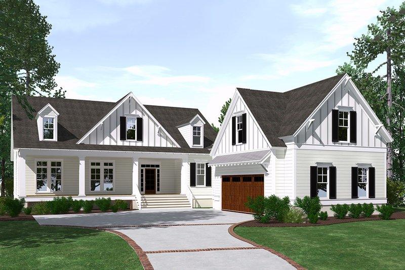Home Plan - Farmhouse Exterior - Front Elevation Plan #1071-9