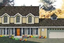Dream House Plan - Country Exterior - Front Elevation Plan #3-179
