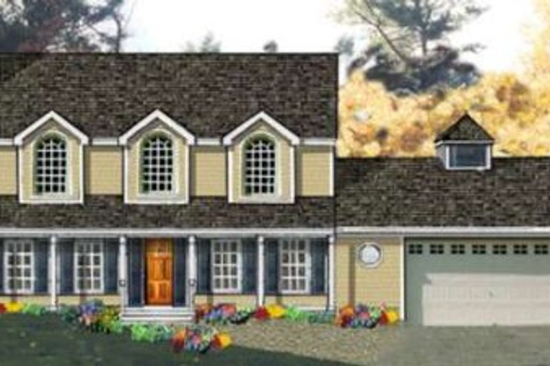 Country Exterior - Front Elevation Plan #3-179