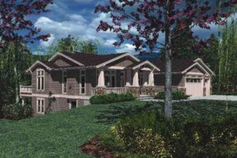 Craftsman Exterior - Front Elevation Plan #48-169