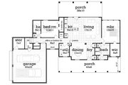 Southern Style House Plan - 3 Beds 3 Baths 1792 Sq/Ft Plan #45-572 Floor Plan - Main Floor Plan