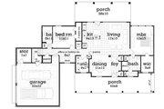 Southern Style House Plan - 3 Beds 3 Baths 1792 Sq/Ft Plan #45-572 Floor Plan - Main Floor Plan