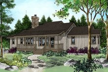 Architectural House Design - Country Exterior - Front Elevation Plan #929-69
