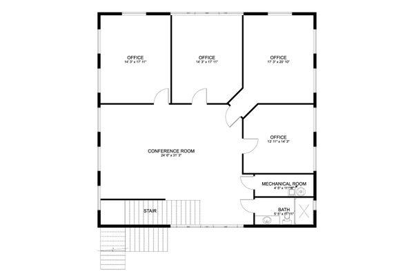 Farmhouse Floor Plan - Upper Floor Plan #1060-80