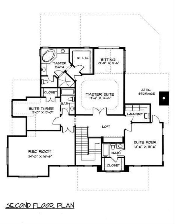 Victorian Floor Plan - Upper Floor Plan Plan #413-142