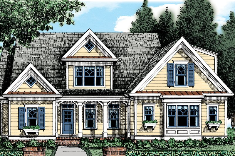 Architectural House Design - Farmhouse Exterior - Front Elevation Plan #927-1004
