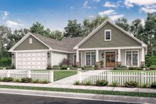 Architectural House Design - Country Exterior - Front Elevation Plan #430-83