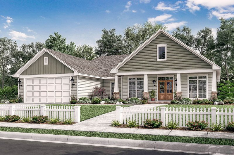 House Plan Design - Country Exterior - Front Elevation Plan #430-83