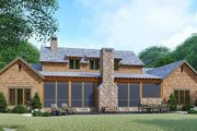 Country Style House Plan - 3 Beds 4 Baths 2687 Sq/Ft Plan #923-127 Exterior - Rear Elevation