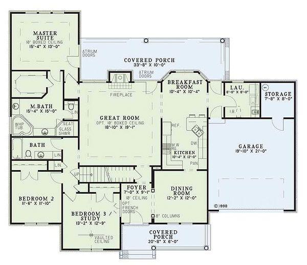 European Floor Plan - Main Floor Plan Plan #17-293