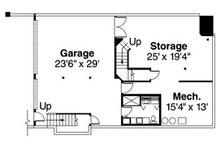 Craftsman Floor Plan - Lower Floor Plan Plan #124-516