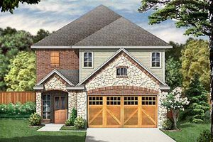 Cottage Exterior - Front Elevation Plan #84-271