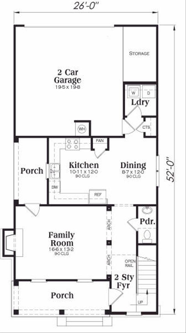 Southern Floor Plan - Main Floor Plan #419-151