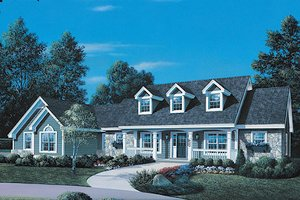 Country Exterior - Front Elevation Plan #57-323