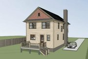 Bungalow Style House Plan - 3 Beds 2.5 Baths 1523 Sq/Ft Plan #79-213 Exterior - Other Elevation