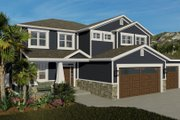 Craftsman Style House Plan - 4 Beds 2.5 Baths 2313 Sq/Ft Plan #1060-66 Exterior - Front Elevation